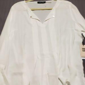 White Ivana Trump blouse
